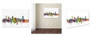 "Trademark Global Michael Tompsett 'Montreal Canada Skyline' Canvas Art - 22"" x 32"""