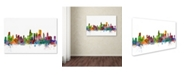 "Trademark Global Michael Tompsett 'Chicago Illinois Skyline' Canvas Art - 22"" x 32"""