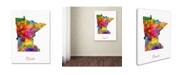 "Trademark Global Michael Tompsett 'Minnesota Map' Canvas Art - 24"" x 32"""