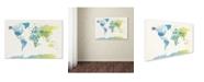 "Trademark Global Michael Tompsett 'Watercolour Political Map of the World 2' Canvas Art - 30"" x 47"""