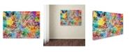 """Trademark Global Michael Tompsett 'Manchester England Street Map' Canvas Art - 35"""" x 47"""""""