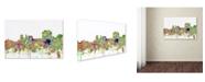 "Trademark Global Marlene Watson 'Trenton New Jersey Skyline SG Faded Glory' Canvas Art - 12"" x 19"""