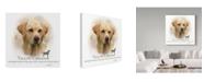 "Trademark Global Howard Robinson 'Yellow Labrador' Canvas Art - 14"" x 14"""