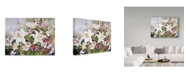 """Trademark Global Joanne Porter 'White Lilies And Mixed Colored Cosmos' Canvas Art - 14"""" x 19"""""""