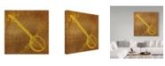 "Trademark Global John W. Golden 'Banjo' Canvas Art - 14"" x 14"""