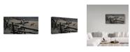 "Trademark Global Wilhelm Goebel 'Split Rail And Fox' Canvas Art - 12"" x 24"""