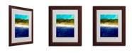 "Trademark Global Michelle Calkins 'Abstract Dunes Study' Framed Matted Art - 14"" x 11"""