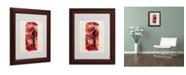 """Trademark Global Michael Tompsett 'Telephone Box' Matted Framed Art - 14"""" x 11"""""""