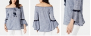 Style & Co Off-The-Shoulder Neck Top, Created for Macy's