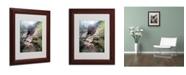 """Trademark Global Monica Fleet 'Powerful Walls' Matted Framed Art - 14"""" x 11"""""""