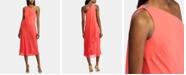 Lauren Ralph Lauren Rhinestone-Pin Single-Shoulder Chiffon Dress