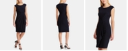 Lauren Ralph Lauren Ruched-Waist Cap-Sleeve Dress
