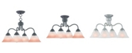 Livex CLOSEOUT!   Wynnewood 4-Light Convertible Dinette Chandelier/Ceiling Mount