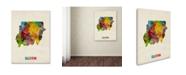 "Trademark Global Michael Tompsett 'Sudan Watercolor Map' Canvas Art - 14"" x 19"""