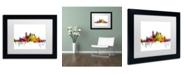 """Trademark Global Michael Tompsett 'Pittsburgh Pennsylvania Skyline' Matted Framed Art - 11"""" x 14"""""""