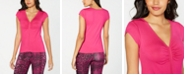 Thalia Sodi Ruched V-Neck Top, Created for Macy's