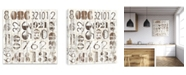 Artissimo Designs Weathered Numbers I Printed Canvas Art