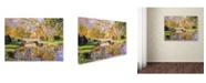 "Trademark Global David Lloyd Glover 'Reflections of the White Bridge' Canvas Art - 24"" x 32"""