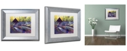 "Trademark Global David Lloyd Glover 'Blue Garden Impression' Matted Framed Art - 11"" x 14"""