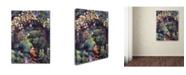 "Trademark Global David Lloyd Glover 'Rose Arbor Pathway' Canvas Art - 24"" x 32"""