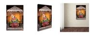 """Trademark Global Jason Shaffer 'Clown' Canvas Art - 12"""" x 19"""""""
