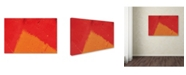 """Trademark Global Claire Doherty 'Abstract Orange Triangle' Canvas Art - 24"""" x 16"""""""