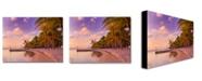 "Trademark Global Preston 'Cayman Beach Full' Canvas Art - 24"" x 18"""