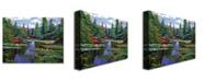 "Trademark Global David Lloyd Glover 'water lily Lake Reflections' Canvas Art - 47"" x 35"""