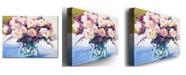 "Trademark Global David Lloyd Glover 'Roses in Glass' Canvas Art - 47"" x 35"""