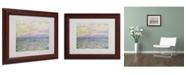 """Trademark Global Claude Monet 'Coucher de Soleil a Pourville' Matted Framed Art - 14"""" x 11"""""""