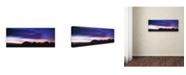"Trademark Global David Evans 'Kata Tjuta Dusk' Canvas Art - 19"" x 6"""