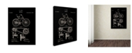 """Trademark Global Claire Doherty 'Bicycle Patent 1890 Black' Canvas Art - 35"""" x 47"""""""