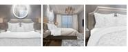 Design Art Designart 'Abstract White Geometric Pattern' Scandinavian Duvet Cover Set - Queen