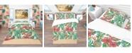 Design Art Designart 'Colorful Tropical Pattern' Tropical Duvet Cover Set - Twin