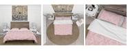 Design Art Designart 'Cute Pink Tiled Pattern' Rustic Duvet Cover Set - King
