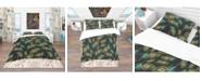 Design Art Designart 'Multicolored Decorative Abstract Bird Feathers' Southwestern Duvet Cover Set - King