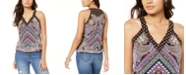 INC International Concepts I.N.C. Button V-Neck Tank Top, Created for Macy's