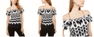 INC International Concepts INC Chain-Strap Cold-Shoulder Top, Created for Macy's