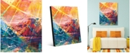 """Creative Gallery Island of Stained Glass Abstract Portrait Metal Wall Art Print - 24"""" x 36"""""""