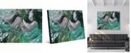 "Creative Gallery Vulcano Beta Abstract Portrait Metal Wall Art Print - 24"" x 36"""