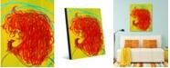 "Creative Gallery Beautiful Curls Abstract Woman Portrait Metal Wall Art Print - 16"" x 20"""