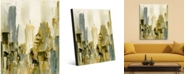 """Creative Gallery Center City Abstract Cityscape Portrait Metal Wall Art Print - 24"""" x 36"""""""