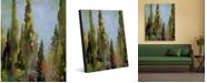 "Creative Gallery Watercolor Italian Cedar Trees Portrait Metal Wall Art Print - 20"" x 24"""
