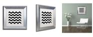 "Trademark Global Color Bakery 'Xmas Chevron 6' Matted Framed Art - 11"" x 11"""