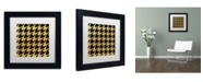 "Trademark Global Color Bakery 'Xmas Houndstooth 5' Matted Framed Art - 11"" x 11"""