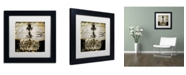 """Trademark Global Color Bakery 'Chand 1' Matted Framed Art - 11"""" x 11"""""""