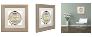 "Trademark Global Color Bakery 'Paris in Frames 1' Matted Framed Art - 11"" x 11"""