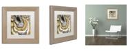 "Trademark Global Color Bakery 'Stone Prose' Matted Framed Art - 11"" x 11"""