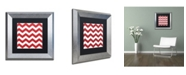 "Trademark Global Color Bakery 'Xmas chevron 8' Matted Framed Art - 11"" x 11"""
