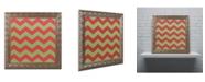 """Trademark Global Color Bakery 'Xmas chevron 9' Ornate Framed Art - 16"""" x 16"""""""